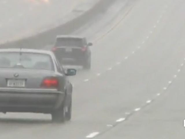Por favor, ria desses motoristas da Califórnia desorientados pela chuva
