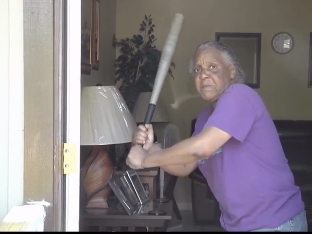 Oops Upside Your Head: 65-Year-Old Woman (and Her Bat) Give Burglar the Business