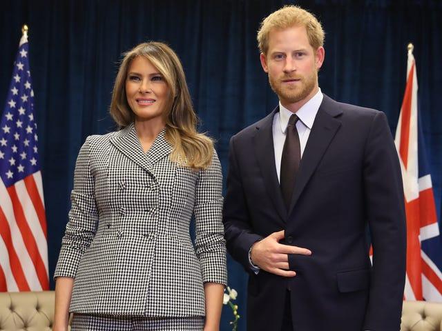 Salaliitto: Prinssi Harry tapaa Melanian, tekee paholaisen merkin