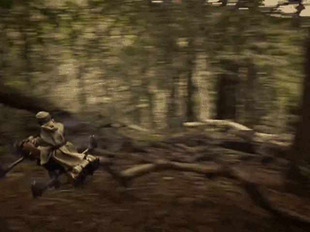 Es difícil decir a estas motos Speeder Quadcopter de la película Props
