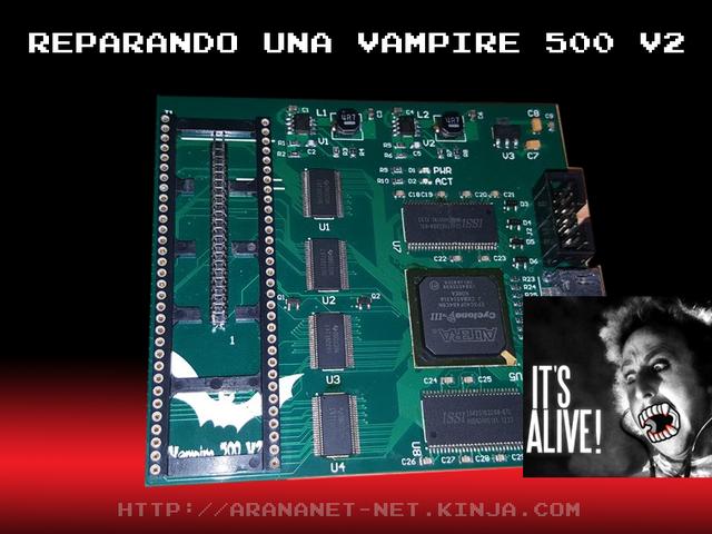 Reparando una Vampire 500 V2