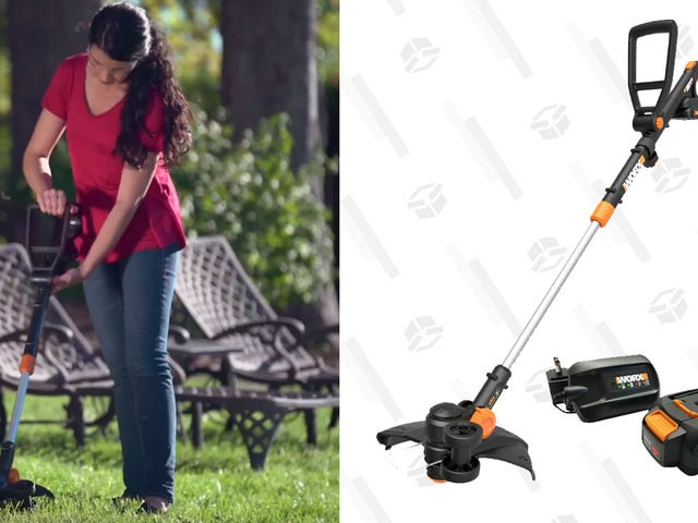Ditch the Gas Can And Grab This Battery-Powered Trimmer For Just $60