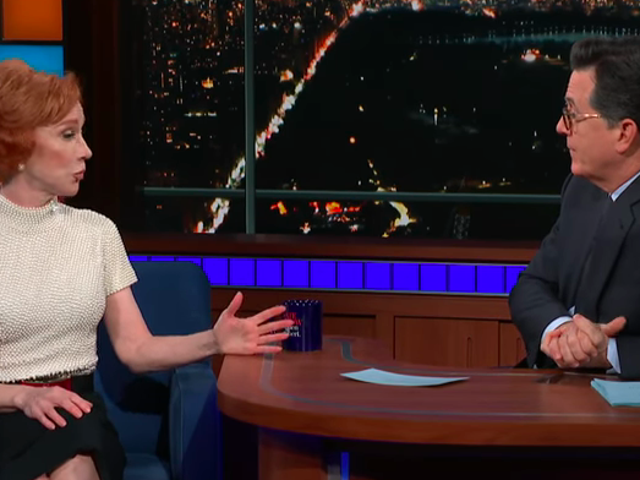 On The Late Show, Kathy Griffin details the massive fallout from that bloody Trump photo