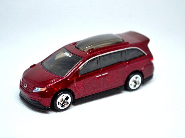Maroon Minivan at Midnight