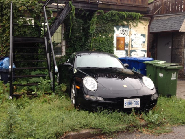 When Toronto rent prices are real, but sports car is life.