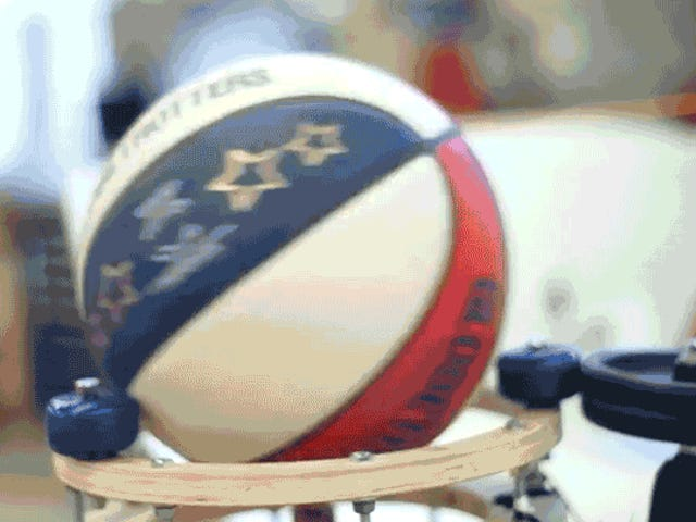 This Rube Goldberg Basketball Machine Has Enough Tricks to Be a Harlem Globetrotter