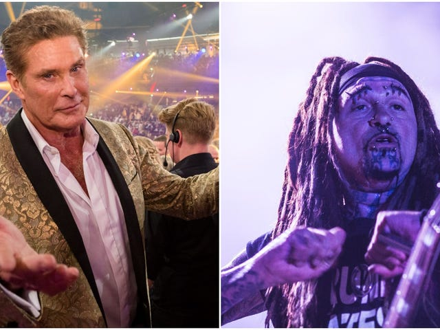 """Yeah, okay, we'd like to hear David Hasselhoff and Ministry's cover of """"Sweet Caroline"""""""