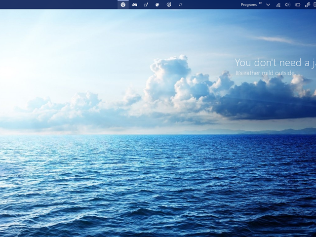 Calm, blue waves