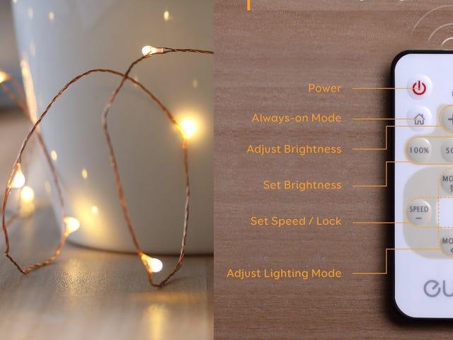 Decoreren met Anker's afstandsbedienende lichtslingers, nu slechts $ 10 per streng