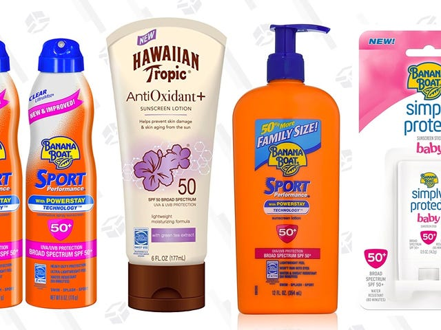 Save 10% On A Whole Bunch of Banana Boat Sunscreens