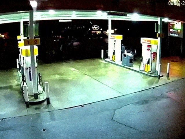 Out-Of-Control Uber Slams Into Gas Pump And Explodes In A Fireball