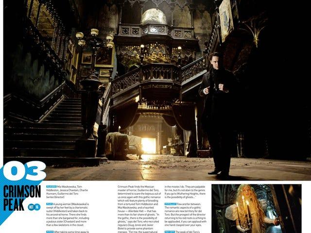 Tom Hiddleston Pupunta Gothic Sa Mga Larawan Mula sa <i>Crimson Peak</i> Del Toro