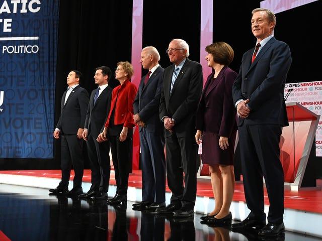 Las mejores y peores líneas del debate presidencial demócrata de anoche