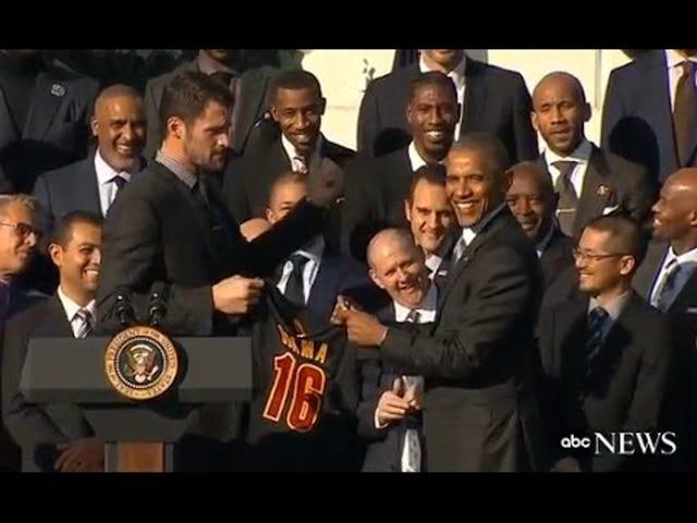 Presidentti Obama toteaa, että soturit räjäyttivät 3-1 lyijyä finaalissa