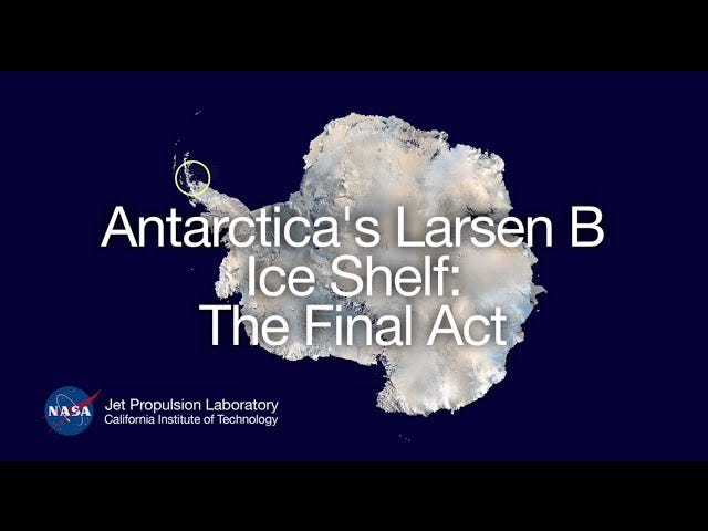 La banquise Larsen B de l'Antarctique se désintégrera probablement d'ici la fin de la décennie