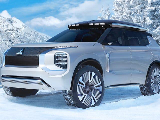 Het Hybrid SUV-concept van Mitsubishi ziet er wild uit, maar het oplaadsysteem is waar dingen interessant worden