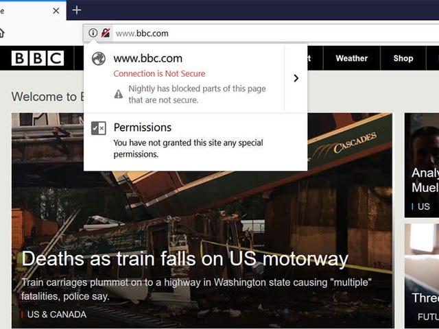 Firefox kan snart starte offentligt shaming sites med crappy sikkerhed <em></em>