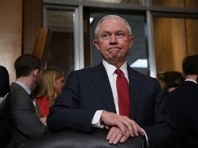 Attorney General Jeff 'King Keebler' Sessions Joins High Schoolers in 'Lock Her Up' Chant