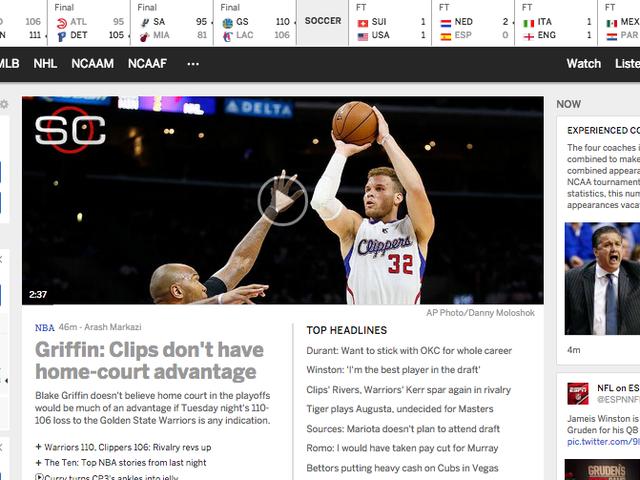 Whoa, ESPN.com Baru