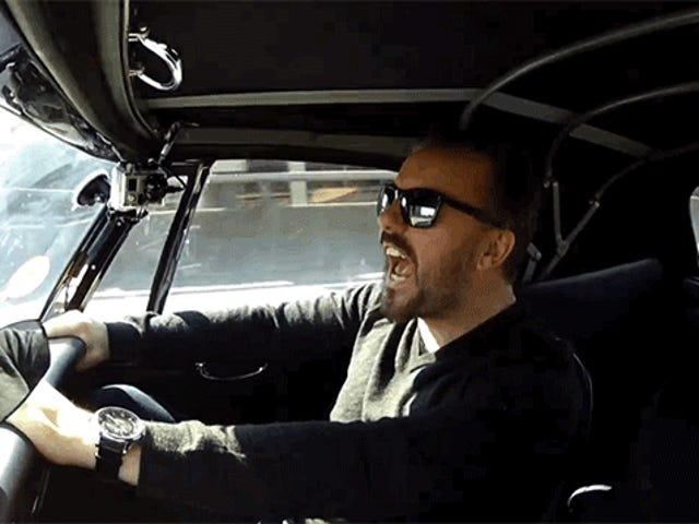 Kijk Jerry Seinfeld Scare The Crap Out Van Ricky Gervais In A Car