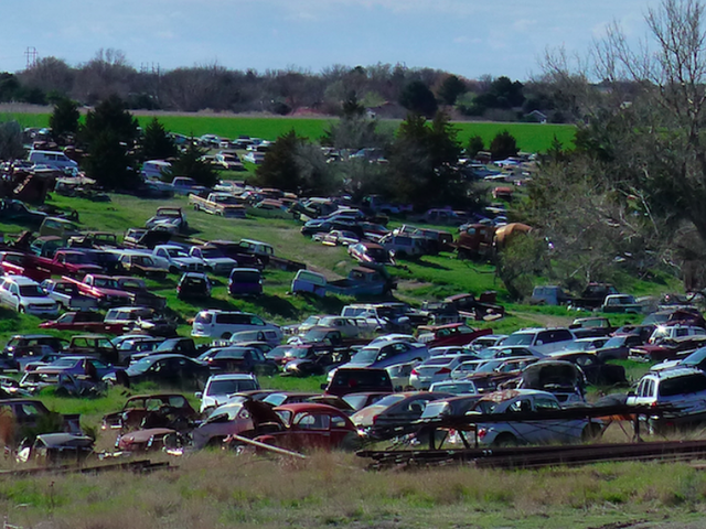 Help Us Spot the Incredible Cars in This Kansas Junkyard