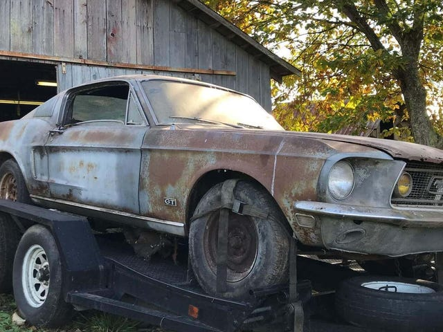This Barn Find 1968 Ford Mustang Fastback Came With the Ashes of Its Former Owner