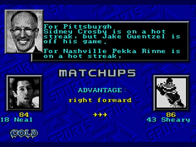 Tonight's Stanley Cup Final Game 2, Simulated In NHL '94 For Sega Genesis