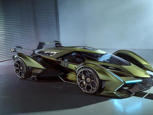 Lamborghinis V12 Vision Gran Turismo-Konzept ist aus irgendeinem Grund auf dem Mond zu sehen
