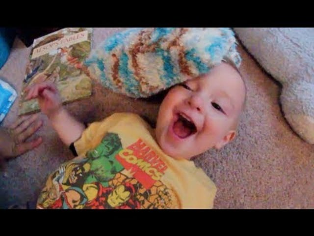 Make a Baby Laugh With These Silly Stunts
