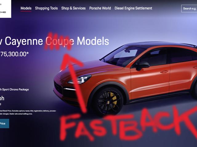 """Давайте погодимося припинити зловживання словом """"купе"""" і почати використовувати """"Fastback"""""""