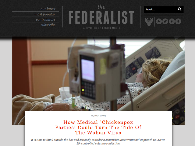 Twitter elimina post di The Federalist Calling for Coronavirus Infezione