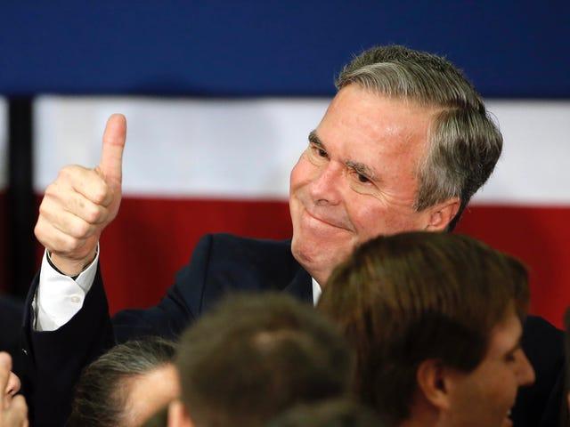 Jeb Bush n'est pas une blague;  Il est un sac de merde