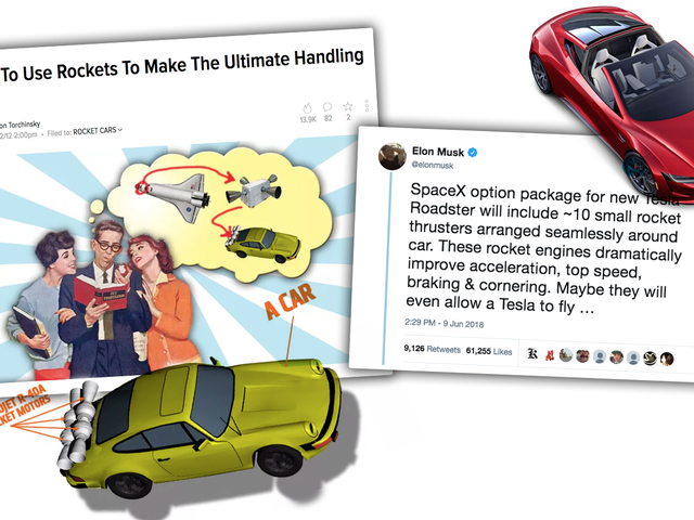 Elon Musk's Tweet About Rockets On A Car Is The Same Idea I Had Six Years Ago