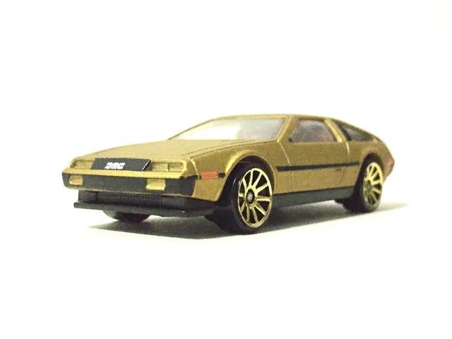 En gull DeLorean ...