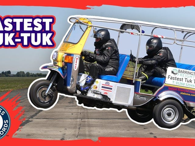 The World's Fastest Tuk Tuk Hit 74 MPH