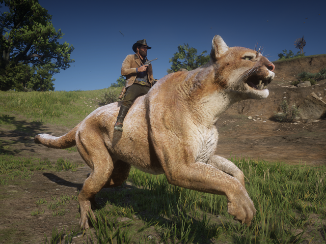 This Red Dead Redemption II Mod Lets You Ride A Giant Cougar