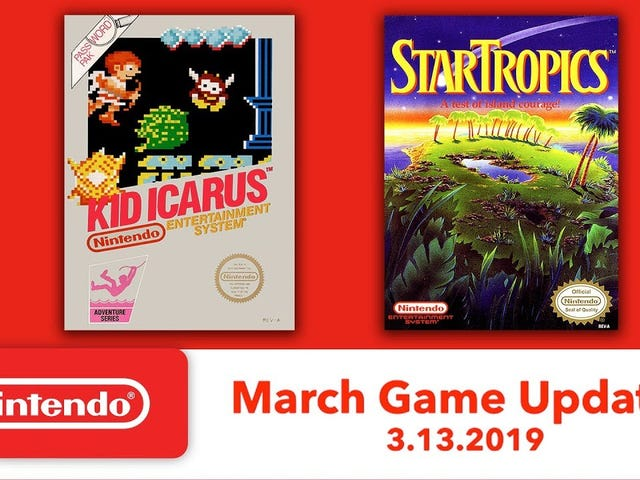 Kid Icarus and StarTropics will join the Nintendo Switch Online collection on March 13