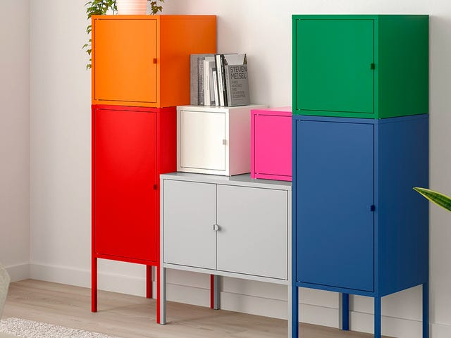 These Colorful Metal Cabinets Are My Unsung Hero of IKEA's Storage Solutions