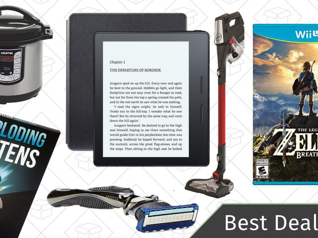 Sunday's Best Deals: Gillette Fusion, BOGO Wii U Games, Hoover Vacuum, and More