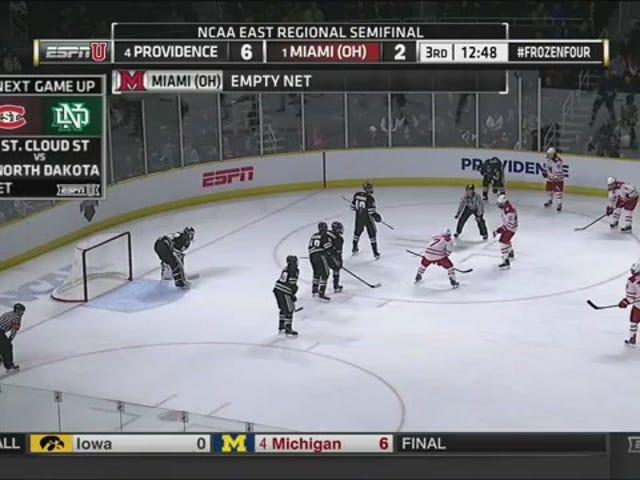 Les Redhawks jouent avec un filet vide pendant 12 minutes, marquent trois buts, perdent
