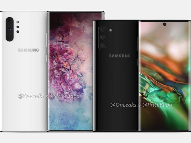 Flere detaljer om Galaxy Note 10 og dens nye Pro-version lækker