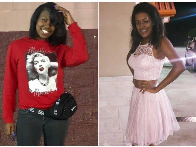 Hai cô gái da đen chết trong vụ tai nạn xe hơi.  Tuần tra đường cao tốc, giám định y tế và nhà tang lễ trộn lẫn các cơ quan của họ