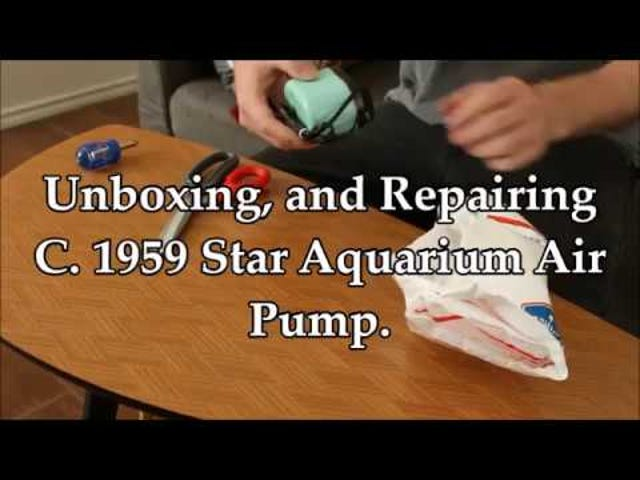 Watch me awkwardly repair this 60 year old Aquarium Air Pump.