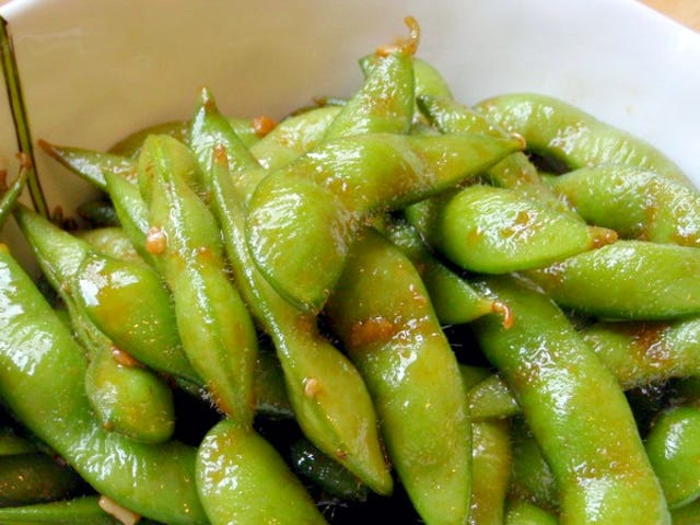 Sauté Edamame in Butter and Garlic
