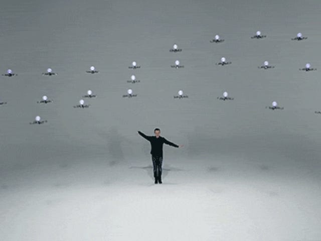 Watch the Mesmerizing Magic of 24 Flying Drones Dancing at Once