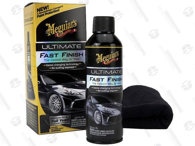 """""""Wax"""" Your Car In Minutes With Meguiar's Fast Finish, Now Just $9"""