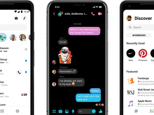 Facebook Is Finally Adding a Dark Mode to Messenger