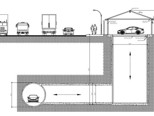 The Boring Company construye su primer garaje subterráneo en California, y es casi como la batcueva