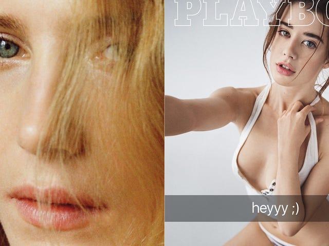 <i>Playboy</i> &#39;s eerste non-naked centerfold is Dree Hemingway en hun covergirl is een sexting