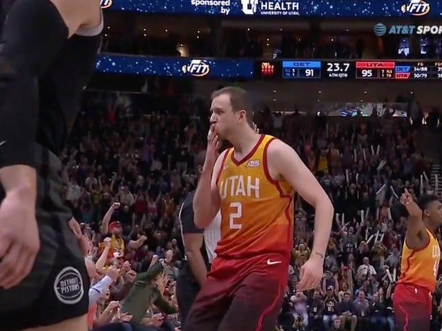 Joe Ingles Remains One Of The NBA's Premier Trash Talkers